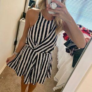 Dresses & Skirts - Black and White Striped Romper